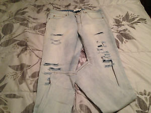 Garage Denim Stretch Distressed Jeans