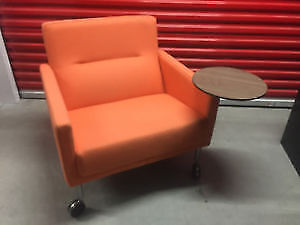 Orange Coalesse Mobil Lounge Task/Reception Chair w/ Work Table