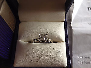 4 Stone Princes Cut Diamond Ring