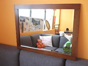 "NEW 24"" SANFORD SOLID WOOD MIRROR WITH BEVELLED GLASS"