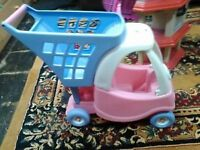 Pink little tikes shopping and kitchen