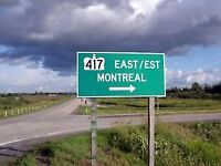 Friday 2:00pm Ottawa to Montreal 20$ call613-519-3707