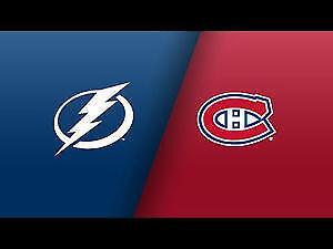 2 billets Tampa Bay Lightning vs Canadiens de Montréal 27 oct