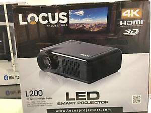 """Locus Projector L200 up to 300"""" with 72"""" screen 4K 3D"""