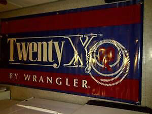 VINTAGE TWENTY X-WRANGLER JEANS RODEO ADVERTISING SIGN $70