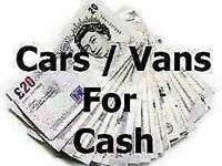 We buy cars and vans for cash