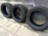 3 x Tyres Part Worn 215/55/16