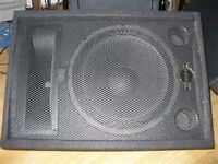 Two Phonic SEM715 stage speakers or stage/floor monitors
