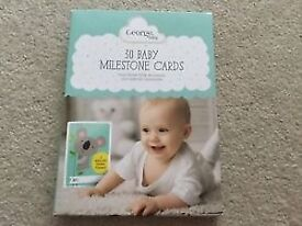From Asda George Baby range 30 Baby Milestone Cards New