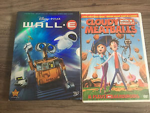 Wall-E & Cloudy with a Chance of Meatballs DVDs