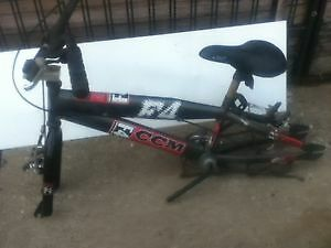 Frame BMX, handle, pedals, brakes & chain $15