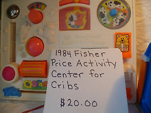1984 Fisher Price Activity Center for Cribs