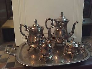 Silver Plated Rogers Butler Set With Tray High Quality Heavy