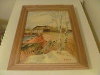 14 By 18 Inch A. Stewart Signed Painting