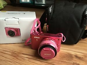 Nikon 1J2 in Pink Complete with case
