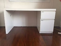 Ikea MALM white desk with drawers, CAN DELIVER