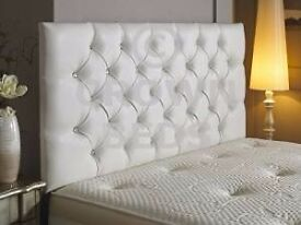 While Leather Headboard (Brand New)