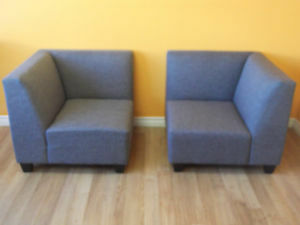 6 PC GREY RECEPTION AREA MODULAR SECTIONAL COUCHES - AS NEW Stratford Kitchener Area image 9