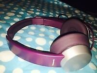 PANASONIC RP-HXD3WE-V STEREO HEADPHONES PURPLE IN-LINE MIC FOR MOBILE PHONE £8