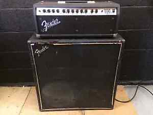 Fender Roc Pro 1000 amp head and Fender 4x12 cabinet