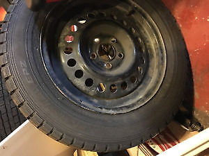 "4 X FALKEN WINTER TIRES 195/65/16 15""   5x100 bolt pattern"