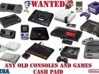 Retro games and consoles wanted