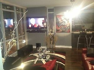 Rent Jan 1 Furnished Gorg Condo Downtow $2200 pkng and util incl