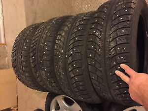 FOUR GISLAVED NORD FROST STUDDED 205 60 R 16 ; RADIALS