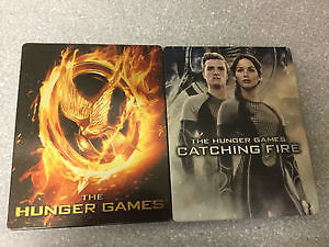The Hunger Games and Catching Fire Blu Ray Rare steelbooks