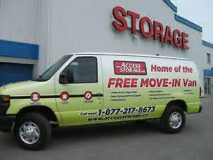 In need of storage? Use our free van!