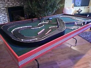 Beautiful hand made slot car set, build from two sets