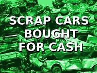SCRAP CARS/VANS WANTED - TOP PRICES PAID- SAME DAY COLLECTION