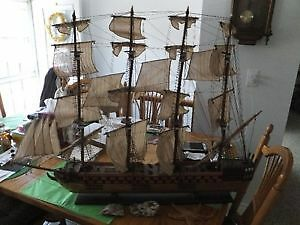 HMS RED LION 1609 MODEL SHIP - PRICE FURTHER REDUCED