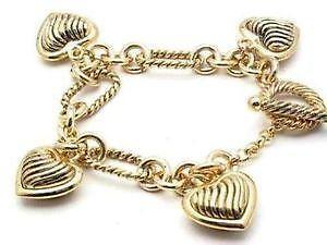 Antique Gold Charm Bracelets cb543653df55