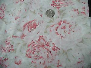 Large Rose Fabric Ebay