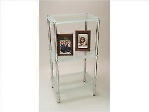 3 Tier Frosted Rectangular Glass Stand IH20 NOV-1400-3 on Sale in Toronto (BD-2646)