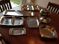 Vintage Danish Mid-Century Modern Teak Serving Dishes