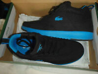 NEW LACOSTE SHOES BLACK&BLUE.SZ.8D