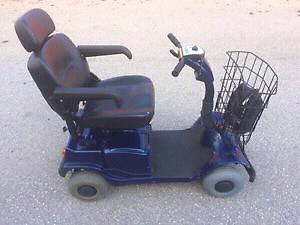 Fortress 2000 4 wheel mobility scooter. With charger. $500