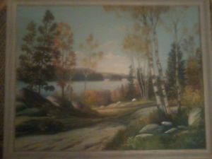 original canadian paintings by native artist sanford fisher