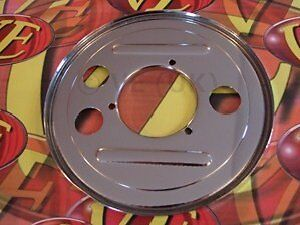 VESPA T5 CLASSIC 125 1991 2000 CHROME REAR HUB STEEL BACKPLATE