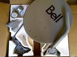 """( NEW IN THE BOX ) 20"""" BELL HD SATELLITE DISH WITH 2 DUAL LNB'S"""