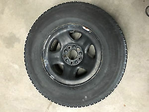 4x 235/70r15 Studded Winter Tires on rims