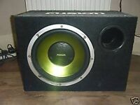 """Fusion 12"""" sub with amp"""