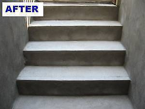 Reparation et de escaliers de beton-Cement stair repair