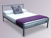 A Small Double/Double Metal Bed Frame with Mattress of Choice