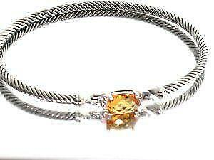 carat silver in cushion genuine citrine bracelet jewelry sterling bonyak