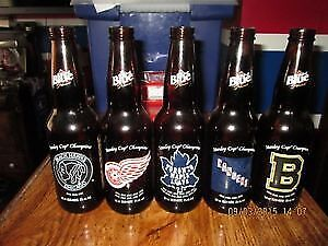 NHL BEER BOTTLES