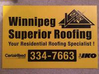 Winnipeg Superior Roofing - *SPRING SALE*