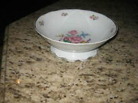 Porcelain Shmidt Floral Footed Bowl- Excellent Condition